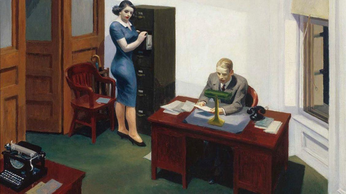 Hopper bureau travail productif